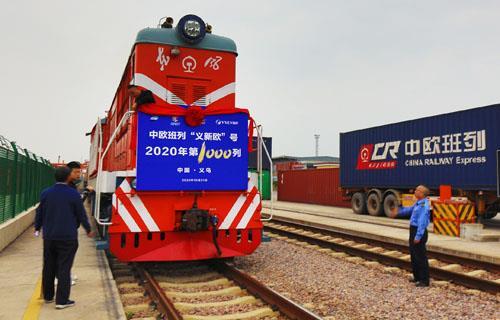 중국-유럽간 화물열차 운송량 급증