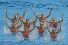 은메달 차지한 중국 아티스틱 수영팀